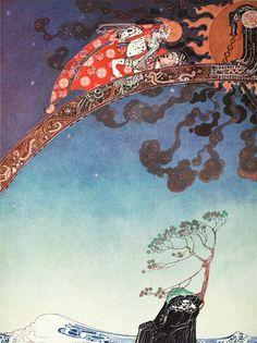 Kay Nielsen illustrated Fridge Magnet East of the Sun