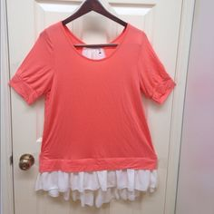 Cute pink and white shirt. Stretch. Super cute shirt. New without tags Tops Tees - Short Sleeve