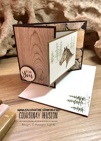 Bags That One!: Let it Ride Stampin' Up! - Special Folds with SBTD January Blog Hop Fun Fold Cards, Folded Cards, Horse Cards, Crafts For Seniors, Stamping Up Cards, Fathers Day Cards, Animal Cards, Fall Cards, Homemade Cards
