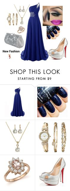 """""""MAHMMOD"""" by mahmmodhafes on Polyvore featuring Monet, Anne Klein, Bloomingdale's, Christian Louboutin and Swarovski"""