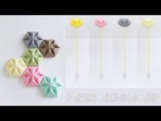 Origami Art: Paper ceiling rose - Wall and ceiling decoration - YouTube