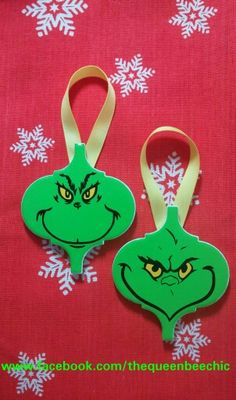 Grinch Ornaments   www.facebook.com/thequeenbeechic                                                                                                                                                                                 More