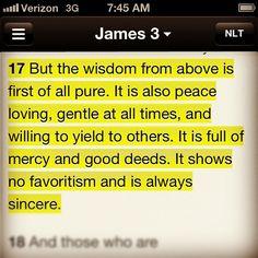 resolutewoman:    James 3:17 #wisdom #dailyverse (Taken with Instagram)