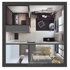 haus Ohne Titel The Beauty Of Remodeling You enter a narrow corridor. Studio Apartment Floor Plans, Studio Apartment Layout, Small Apartment Design, Studio Apartment Decorating, Apartment Plans, Apartment Interior, Apartment Ideas, Tiny Apartments, Studio Apartments