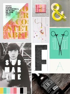 a graphic design client moodboard by emmadime