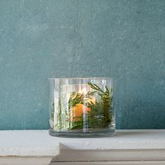 Double Wall Fillable Hurricane in House + Home Lighting + Candleholders at Terrain