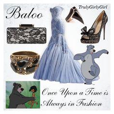 """Disney Style: Baloo"" by trulygirlygirl ❤ liked on Polyvore featuring Versace, Valentino, Hobbs, DJ By Dominic Jones and Oscar de la Renta"