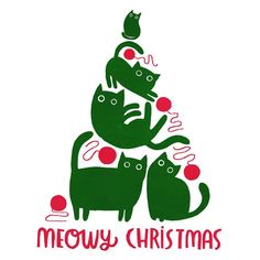 It's the most punderful time of the year! Working on a design for my Christmas cards this year. Might go with this one... #caturday #catpun #catprint #meowychristmas #lovecats #crazycatlady #cat #catart #catcard #catillustration #screenprint #christmascard #christmas #christmastree #christmasillustration #catpun #chat #gato #noel #meow #angierozelaar