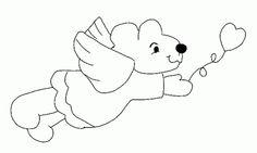 Bear Angel with Balloon