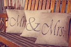 #pillows #burlap Photography by Three Nails  Read more - http://www.stylemepretty.com/2011/02/08/vintage-wedding-by-three-nails-photography/