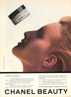1982 Chanel Beauty Cosmetics Makeup Print Magazine Advertisement Ad VTG 80s | eBay
