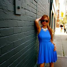 Mink Pink Blue Dress