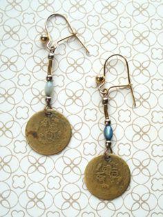 'Pompeii' Vintage earrings