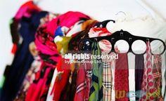 Кадифена закачалка за шалове