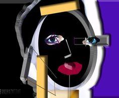 Digital Art   Abstract Portrait   Portrait Paintings   Self-Portrait by Banu Haznedar
