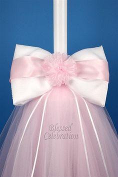 Love this Lambada Candle! Boy Baptism Centerpieces, Baptism Candle, Baptism Favors, Baptism Ideas, Irish Wedding, Greek Wedding, Ideas Geniales, Gift Bows, Baby Christening