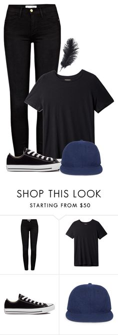 """""""Patch Cipriano-Hush Hush"""" by stories-never-end ❤ liked on Polyvore featuring Frame, Converse, Whistles and bookstyle"""
