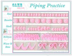 Printable Icing Template. DIY Icing Practice Sheet by ateasypeasydesigns
