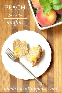 Easy Peach Pecan Muf