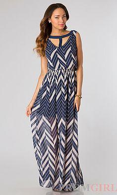 Floor Length Sleeveless Print Dress at PromGirl.com#dress #maxi #maxidress