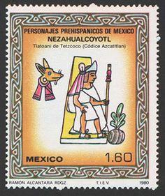 Estampilla Mexicana Nezahualcoyotl.