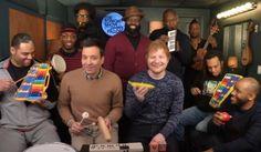 "Ed Sheeran y Jimmy Fallon tocaron ""Shape Of You"" con instrumentos de escuela"