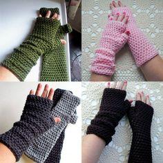 Crochet Pattern Long Fingerless Gloves Mitts or Arm Warmers PDF Digital Crochet Pattern. $5.00, via Etsy.