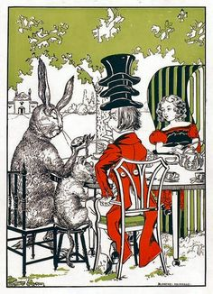 Alice's Illustrated Adventures In Wonderland: illustration by Blanche McManus  ~ A Mad Tea Party
