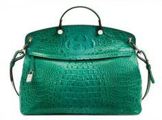 Yeşil deri çanta