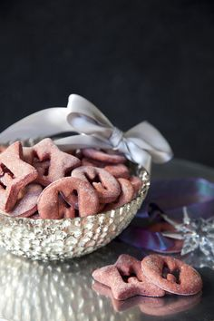 Red Velvet Dog Biscuit Treat Recipe via Salted & Styled