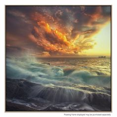 ArtWall 'Delirium with Colors' by Paolo Lazzarotti Graphic Art on Wrapped Canvas Size: Artist Canvas, Canvas Art, Canvas Size, Tropical, Landscape Photos, Beautiful Landscapes, Graphic Art, Opera, Clouds