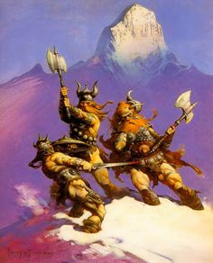 Frank Frazetta - Conan vs the Frost Giants - illustrating the story the Frost Giant's Daughter. Description from pinterest.com. I searched for…