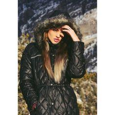 Michael kors down puffer coat with faux fur trim hood xs black