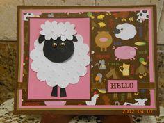 Lamb Hello Card - Scrapbook.com
