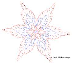 """Képtalálat a következőre: """"crochet snowflake chart"""" Crochet Snowflake Pattern, Crochet Motif Patterns, Crochet Butterfly, Crochet Leaves, Crochet Stars, Crochet Snowflakes, Crochet Diagram, Thread Crochet, Crochet Doilies"""