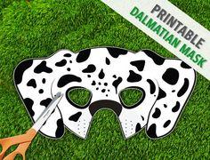 Dalmatian Mask  Spotted Dog Mask  Printable by theRasilisk on Etsy, $3.99