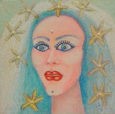 Original Paintings, Original Art, Woman Painting, Female Portrait, Silver Glitter, Buy Art, Paper Art, Mystic, Saatchi Art