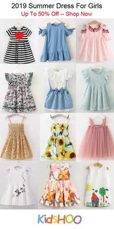 2019 Summer Dress Lots of Styles For Girls - Baby interests Baby Girl Frocks, Frocks For Girls, Toddler Girl Dresses, Little Girl Dresses, Girls Dresses, Tutus For Girls, Baby Frock Pattern, Frock Patterns, Baby Girl Dress Patterns