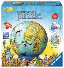 Children Earth in German-Ravensburger Puzzleball Childrens Globe Puzzle, NEW/OVP Dora Diego, Ravensburger Puzzle, 3d Puzzles, Ball Ornaments, Playground, Globe, German, Toys, Children
