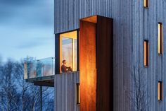 Perched on a hill in #NovaScotia, Rabbit Snare Gorge Cabin by Omar Gandhi Architect Inc. + Design Base 8 takes its inspiration from the traditional #gableroof, which stretches vertically to make the most of the views #window