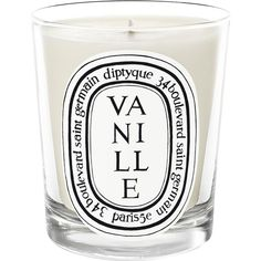 Diptyque 34 Bazar Collection Vanille Mini-Candle (€28) ❤ liked on Polyvore featuring home, home decor, candles & candleholders, candles, fillers, decor, fillers - white, no color, mini candles and wick candles