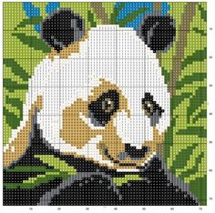 FREE GRAPHICS POINT CROSS: PANDA AND BEARS (24)