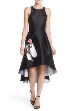 Sachin & Babi Noir Embellished Woven Fit & Flare Dress