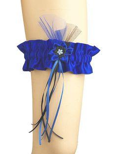 Blue garter goth satin garter r gothic ou by FashionForWomen