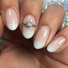 This French manicure with a perfectly subtle ombre finish is simply divine. Recreate this bridal manicure with this tutorial and the nail products suggested.