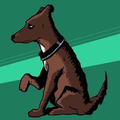 Raider.  #art #creative #dog #conceptart by sketchyreputation