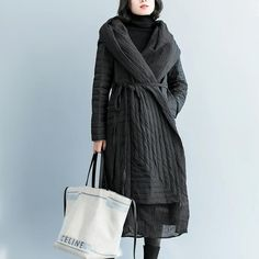 Fashion Black Hoodie Fitted Down Coat Women Winter Outfits Winter Outfits Women, Winter Coats Women, Coats For Women, Down Coat, Black Hoodie, Hoodies, Fitness, Fabric, Fashion