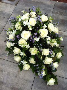 Purple-white sympathy flowers