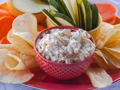 Rachael's from-scratch French Onion Dip gets great flavor from sautéed onions, thyme and Worcestershire sauce.