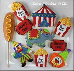 Carnival / Circus Themed Cookies by Cakes & Cookies by Clau